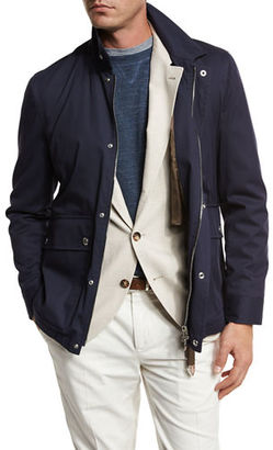 Brunello Cucinelli Cotton-Nylon Utility Jacket $2,295 thestylecure.com