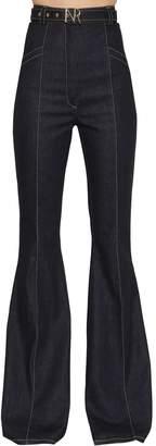 Nina Ricci High Waisted Flared Denim Jeans