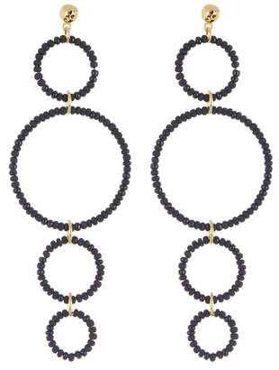 Gorjana Sayulita Beaded Multi Hoop Drop Earrings