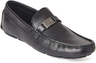 Class Roberto Cavalli Black Leather Driving Loafers