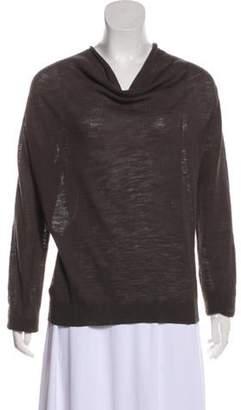 Dries Van Noten Wool Long Sleeve Sweater Olive Wool Long Sleeve Sweater