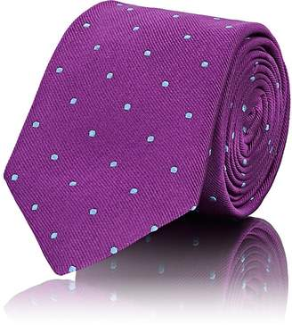 Barneys New York Men's Polka Dot Silk Faille Necktie