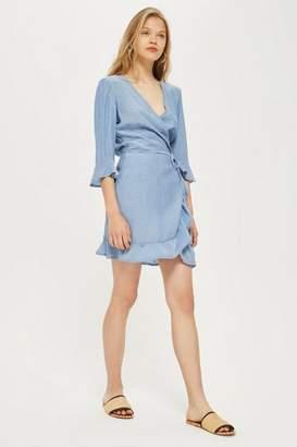 Oh My Love **Wrap Frill Dress