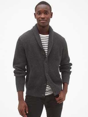 Gap Ribbed Shawl Cardigan Sweater