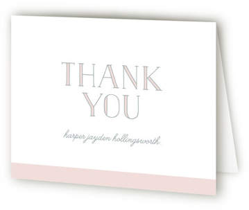 Sweet Simplicity Baptism and Christening Thank You Cards