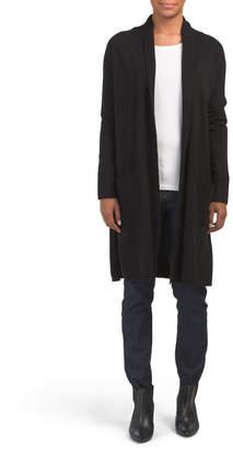Long Pocket Front Cardigan