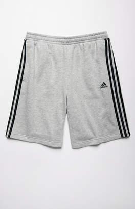 adidas 3-Stripe Grey Sweat Shorts