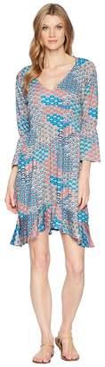 Roper 1575 Multi Fan Print Ity Jersey Dress Women's Dress