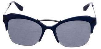Kenzo Half-Rim Tinted Sunglasses
