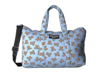 Moschino Kids Teddy Bear Logo Print Diaper Bag w/ Changing Mat
