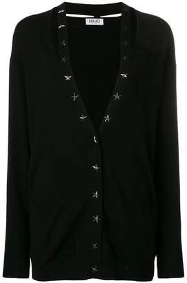 Liu Jo star-stud fitted cardigan