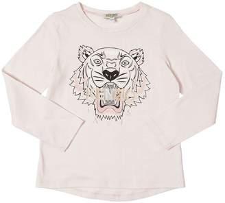 Kenzo Tiger Printed Cotton Jersey T-Shirt