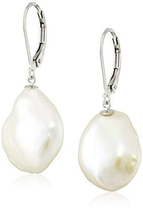 Bella Pearl Keshi Pearl Leverback Drop Earrings