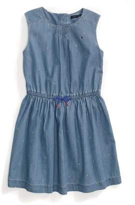 Tommy Hilfiger Dot Print Chambray Dress
