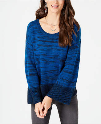 Style&Co. Style & Co Petite Colorblock Boxy Pullover Sweater