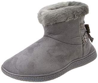 Isotoner Women's Suedette Short Boot Slippers Low-Top (Grey Gry), 40 EU