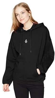 Volcom Junior's Roll It up Oversized Pullover Hoody Sweatshirt