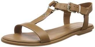 5daa72a17e3549 Tommy Hilfiger Women s Elevated Leather Flat Sandal Flip Flops