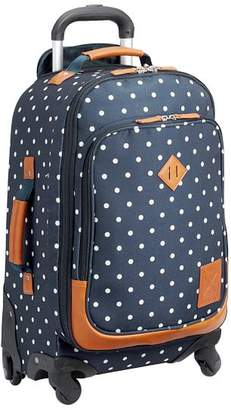 Pottery Barn Teen Northfield Navy Dot Carry-On Spinner