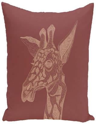 E By Design 16 Inch Rust Decorative Safari Throw Pillow