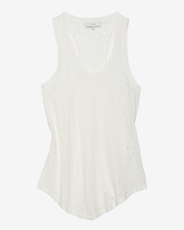 IRO Slasher Knit Tank: Ivory