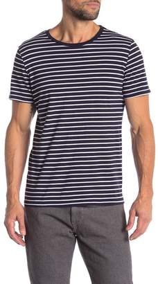 Save Khaki Marine Stripe Crew Neck Tee
