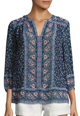Joie Andala Floral-Print Silk Blouse $288 thestylecure.com