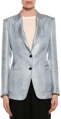 Tom Ford Two-Button Menswear Twill Blazer