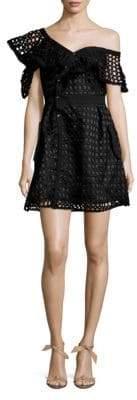 Cutout One-Shoulder A-Line Dress