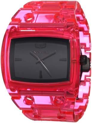 Vestal Women's DESP028 Destroyer Plastic Translucent Neon Pink Watch