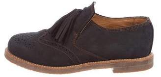 Penelope Chilvers Suede Brogue Loafers