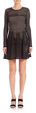 BCBGMAXAZRIA Women's Kyla Mesh Knit Dress