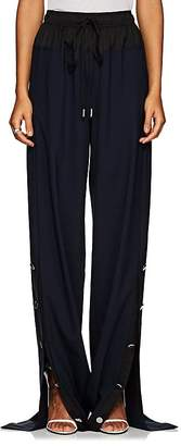 Cédric Charlier Women's Button-Vent Drawstring-Waist Pants