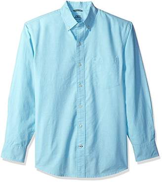 Izod Men's Newport Oxford Solid Long Sleeve Shirt