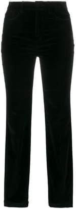 Dolce & Gabbana mid-rise skinny velvet trousers