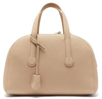 The Row Sporty Bowler 12 Grained Leather Bag - Womens - Cream