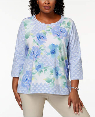 Alfred Dunner Plus Size Floral-Print Top