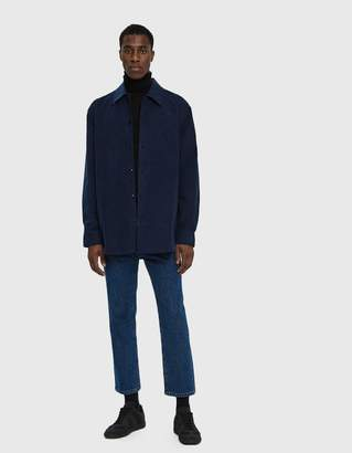 Acne Studios Minimal Military Shirt in Mineral Blue