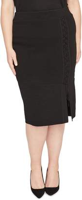 Rachel Roy Collection Lace Up Pencil Skirt