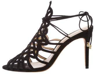 Alexandre Birman Suede Cutout Sandals