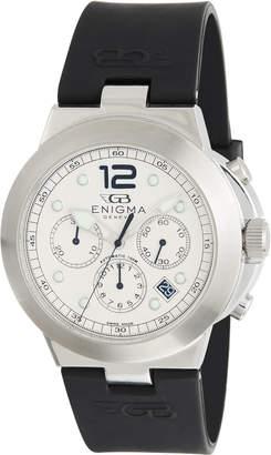 Bulgari Enigma By Gianni Men's Chronograph Watch w/ Rubber Strap, Black