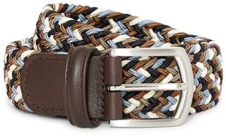 Andersons Anderson's Woven Belt Green, Blue & Cream