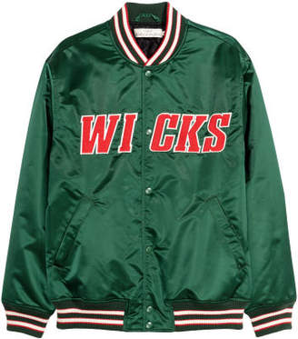 H&M Nylon Baseball Jacket - Green