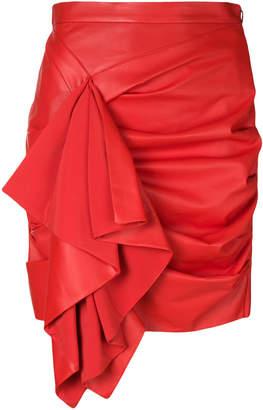 Drome gathered ruffle trim skirt