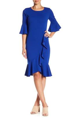 Blvd Elbow Sleeve Solid Dress