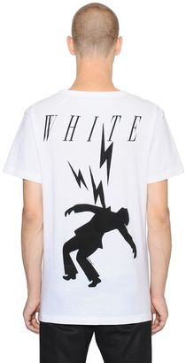 Bolts Printed Cotton Jersey T-Shirt $307 thestylecure.com