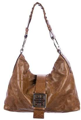 Givenchy Logo Leather Hobo Bag