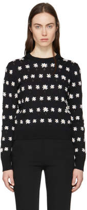 Kenzo Black Jackie Flowers Sweater