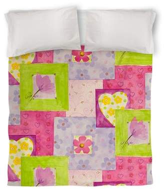 IDG Hearts and Flowers Duvet Cover