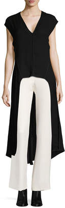 Narciso Rodriguez High-Low V-Neck Tunic